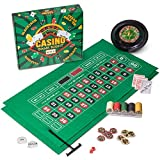Casino Game Night | 4-in-1 Gambling Game Set | Texas Hold 'Em, Blackjack, Roulette, and Craps | Includes...