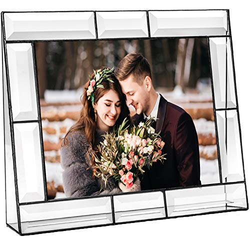 Clear Glass Picture Frame 8x10 Photo Display Desk Accessories Tabletop Home Décor Family Wedding Anniversary Engagement Graduation Gift J Devlin Pic 112 Series