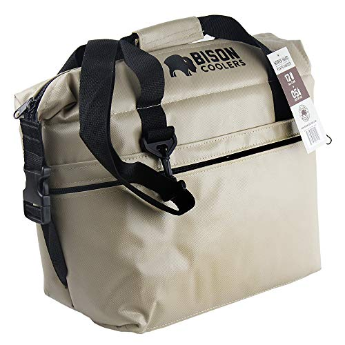 BISON COOLERS Soft Sided Insulated 12 Can Cooler Bag