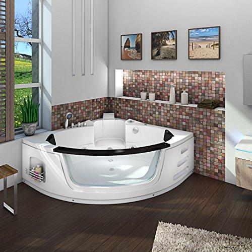 Whirlpool Pool Badewanne Eckwanne Wanne A1505N-ALL 140x140cm Reinigungsfunktion, Selfclean:aktive Schlauch-Reinigung +90.-EUR, Sonderfunktion1:mit Radio+Farblicht +50.-EUR