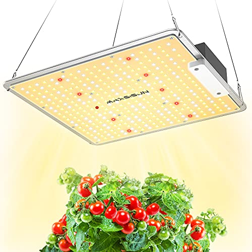 MAXSISUN PB1000 Pro Grow Light, 100W LED Grow Lights for Indoor Plants Full Spectrum with Samsung Diodes and Mean Well Driver Remote Control Dimmable Growing Lamps for a 2'x2' Grow Tent Veg & Bloom