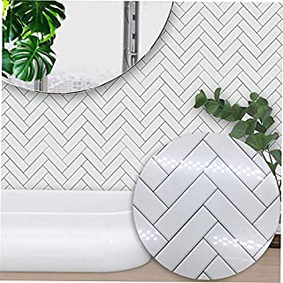 QiKun-Home Aliex Verkoopt Nordic Moderne Minimalistische Witte Visgraat Stijl Tegelstickers Slaapkamer Keuken Woonkamer St...