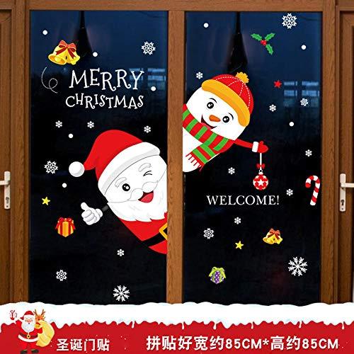 Vinilos decorativos, vinilos navideños, escaparates, vinilos para escaparates, vinilos para escaparates-Vinilos decorativos para puertas navideñas_Grandes