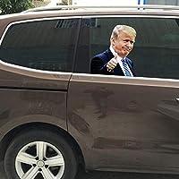 車の窓のステッカー、ドナルド・トランプの車とトラックの標識、車、バン、トラック、タクシー、ミニキャブ、バス、コーチ用の反射バンパーステッカー