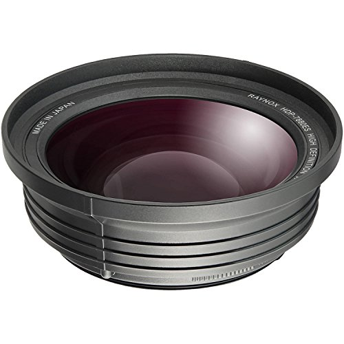 Raynox HDP-7880ES 4K Compatible Wide-Angle Conversion Lens 0.79x with 3 Adapter Rings for 55 mm, 58mm, 62mm Lens