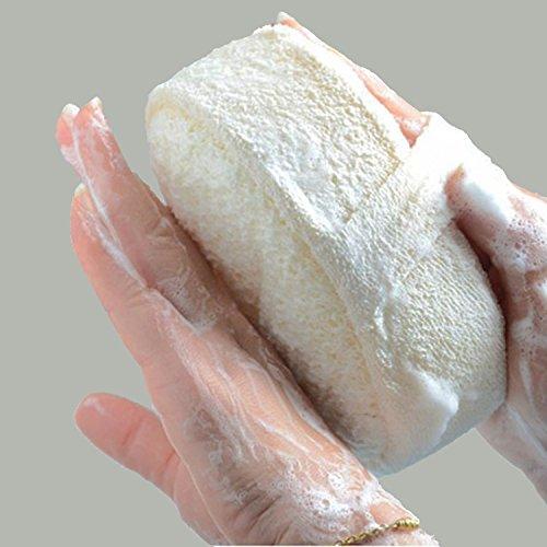 COMTERVI Éponges à récurer exfoliantes Loofah Exfoliant pour Douche Loofahs en Lin Éponge exfoliante Gratte-Dos Ceinture de Gommage Corps 1PCS