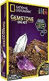 Collect National Geo Gemstone Dig Kit con 3 muestras de piedras preciosas auténticas, deja que tus hijos se excaven y exploren durante horas donde se reúnen diversión y educación.