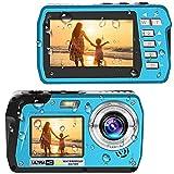 Waterproof Camera 4K Underwater Cameras 56 MP Waterproof Camcorder Camera Dual Screen TFT Displays Selfie Video Recorder Waterproof Digital Camera for Snorkeling (810BU)