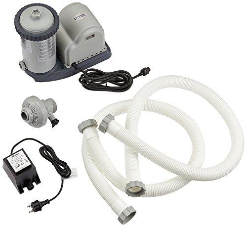 Intex 28636GS - Pompa filtro per piscina, 12V, 50Hz, 5,7m³ / hr, Grigio