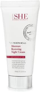OM She Aromatherapy - Pure Botanicals Rosehip Oil Skincare - Moisture Restoring Night Cream - 2 fl ozs (60ml) - Vegan Friendly - Paraben Free - Sulfate Free - Cruelty Free - Made in Australia.