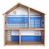 Limmaland Polizei Aufkleber passend für IKEA FLISAT Holz Puppenhaus - Möbel Nicht inklusive