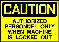 Authorized Personnel Only Caution メタルポスター壁画ショップ看板ショップ看板表示板金属板ブリキ看板情報防水装飾レストラン日本食料品店カフェ旅行用品誕生日新年クリスマスパーティーギフト