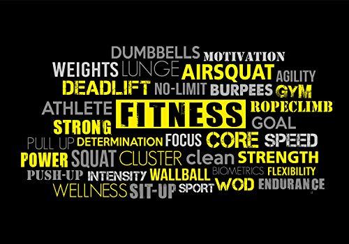 wandmotiv24 Fototapete Fitnessstudio Gym Training, XL 350 x 245 cm - 7 Teile, Fototapeten, Wandbild, Motivtapeten, Vlies-Tapeten, Fitness Sport M6158