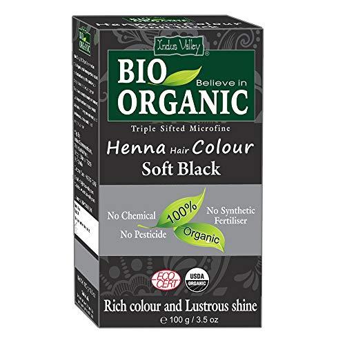 Indus Valley BIO Organic Weiches Schwarzes Henna Haarfarbe - 100% rein und natürlich