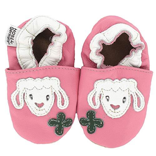 HOBEA-Germany Krabbelschuhe für Mädchen, Schuhgröße:16/17 (0-6 Monate), Modell Schuhe:Lamm Wölckchen