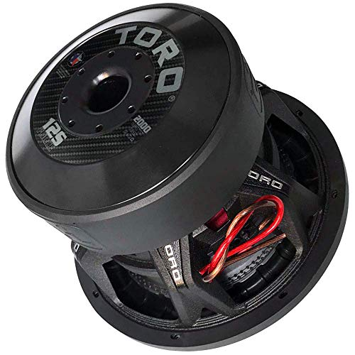 "Toro Tech – Force 12S, 12 Inch 2000 Watts RMS – 4000 Watts MAX – Dual 2 Ohm 3 Inch Voice Coil, 12"" Car Audio Subwoofer for Cars, Trucks, Jeeps, Boats, Off Road with Hard Hitting Bass (Sold As Each)"