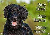 Petsigns Hundeschild Hovawart schwarz - Exklusives Metallschild in Fotoqualität, DIN A4