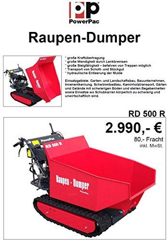 POWERPAC RD500R Pritsche – RAUPENTRANSPORTER RAUPENDUMPER DUMPER MINIDUMPER KETTENDUMPER - 6