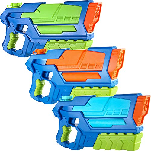 JOYIN 3 in 1 Aqua Phaser High Capacity Water Gun Super Water Soaker Blaster Squirt Toy Swimming Pool Beach Sand Water Fighting Toy