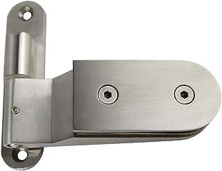SALAKA Bisagra de Doble Abrazadera Ajustable de Plata 2PCS para Puerta de Vidrio de Ducha