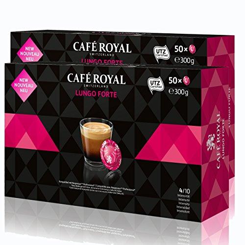 Café Royal Office Pads Lungo Forte Kaffee, Röstkaffee, Kaffeepads, Nespresso Pro Professional System Kompatibel, 100 Pads