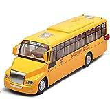 DZX Aleación Voz Modelo de autobús Escolar Simulación Aleación para niños Coche extraíble...
