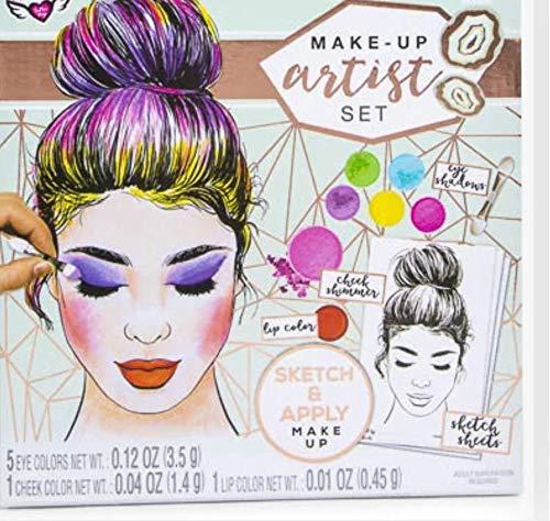 Fashion Angels Make Up Artist Design Kit with 30 Sketch Sheets and Make Up