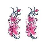 YLGG Pegatinas de Tatuaje de Moda de Flores de Colores, adecuadas para Mujeres, extraíbles