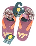 HotFlops New! NCAA Virginia Tech Hokies Kids Football Flip Flops Beach Sandal Shoes - Size Small (11-12)