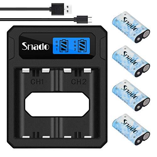 Pack de batterie Snado pour Batterie pour contrôleur Xbox One, batterie rechargeable de 2200 mAh avec câble de chargement, double chargement de batterie Xbox pour contrôleur Xbox One S/X/ Elite
