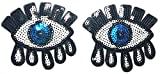 Eye Eyeball Tattoo Wicca Occult Goth Punk Retro Kids Cartoon Kid Patches Appliques Fabric Decorating for Hat Cap Polo Backpack Clothing Jacket T-Shirt DIY Embroidered Iron On/Sew On Patch