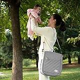 SUNVENO 4 in 1 Wickeltasche, Wickelrucksack mit Babybett, Multifunctional Babynest, Reisebett für Babys, Geschenk für Baby, 0-12 Monate, Grau - 3