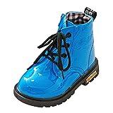 YanHoo Zapatos para niñas Botas de otoño e Invierno para niños. Botines Impermeables Moda Niños Niñas Zapatillas de Deporte Invierno Gruesa Nieve Bebé Zapatos Casuales