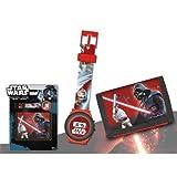 Disney- Star Wars Set Montre Digital avec Porte Feuille, SW92276