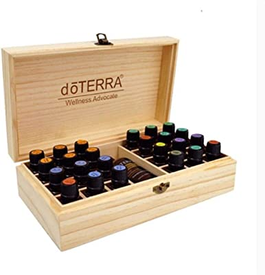 Lorchwise Wooden Grid Essential Oil Case - 25 Grid - Multi-Function Storage Box