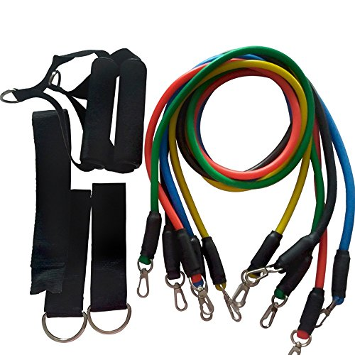 Ganeep Fitness Apparatuur Workout Resistance Bands Latex 11 stks/set Oefening Pilates Buizen Trekkoord Expanders Training