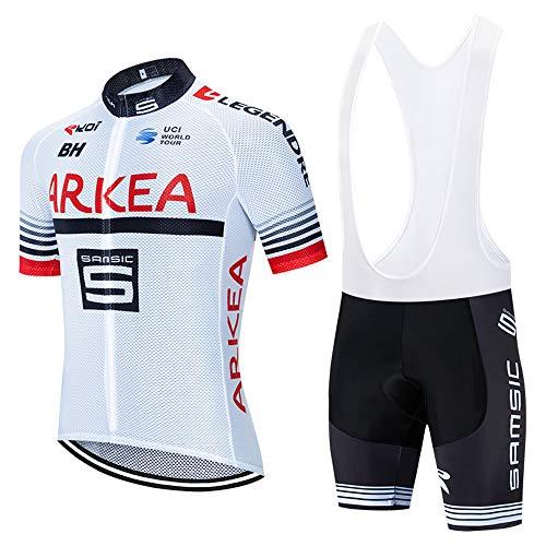 METAAN Tuta Ciclismo Uomo Estive Magliette MTB Maniche Corte + Pantaloncini Imbottiti Completo Bici da Corsa
