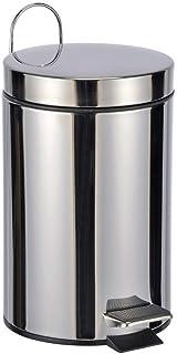 Bambelaa! Cubo de Basura de Aprox. 3 L, Cubo de Basura para baño de Acero Inoxidable, pequeño Color Plateado