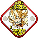 Placa bebé a bordo super guerrero a bordo parodia Goku Super Saiyajin nivel tres