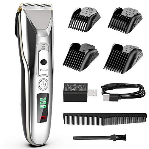 Paubea Hair Clippers for Men - Cordless Ceramic Blade Mens Hair Trimmer Beard Trimmer Hair Cutting & Grooming Kit Rechargeable