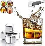 4 Piezas Whisky Piedras Hielos Reutilizable, Cubitos de Hielo Reutilizables...