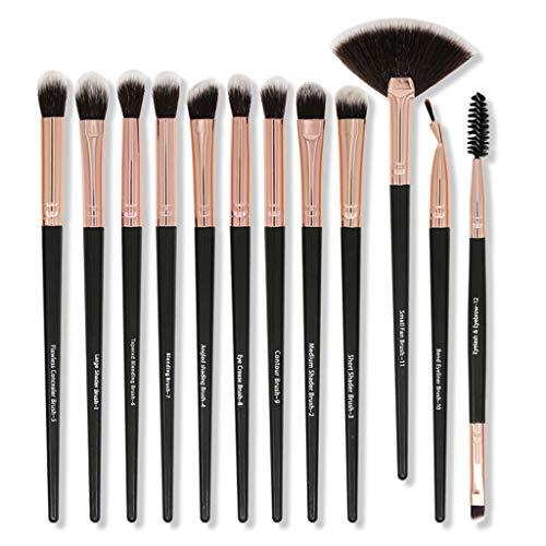 YO-HAPPY Pinceaux de Maquillage Fibre synthétique pour Les Cheveux Ombre à paupières Mélange Eyeliner Brosse à Sourcils