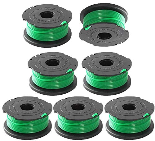 SF-080 String Trimmer,GH3000 Trimmer Spools, Auto Feed Replacement Spools,20-Foot, 0.08-Inch, Auto Feed,Compatible with Black and Decker Weed Eater LST540 LST540B SF-080-BKP String Trimmer- 7 Pack