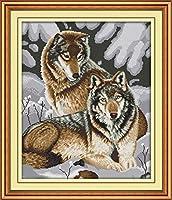 クロスステッチ刺繍キット 図柄印刷 初心者 ホームの装飾 刺繍糸 針 布 11CT Cross Stitch ホームの装飾 動物愛好家 40X50CM