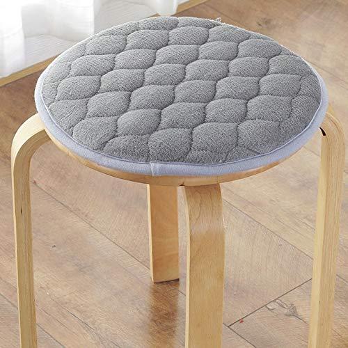 DINGM Winter Thicken Stuhlkissen Plushi Stoff Sitzmatte Superweiche runde Stuhlkissen Home Decoration Kissen Office Seat Pad