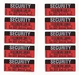 Seguridad Pegatinas Tamper-evident Precinto de garantía Negro y Rojo Do Not Break Seal X 250 Etiquetas
