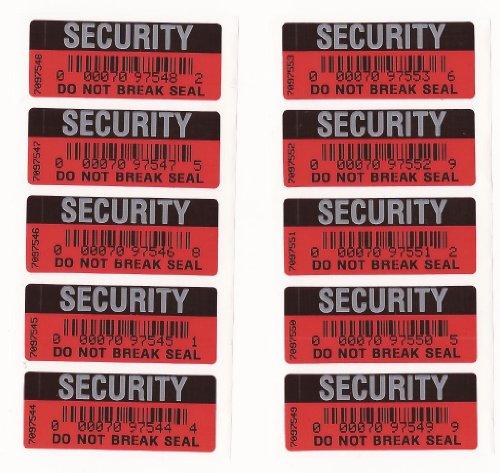 Seguridad Pegatinas garantía prueba manipulaciones