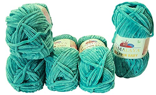 Himalaya Dolphin 80354 - Ovillo de lana para tejer (5 ovillos de 100 g, 500 g), color verde