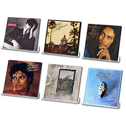 Schallplattenregal - Vinylaufbewahrung - Plattenregal 6 Stück - Transparente Schallplattenhalter - Einfache Installation Acryl Vinyl Regal für Zuhause oder Studio - Plattenregal für Vinyls und Bücher