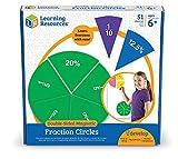 Learning Resources- Cerchi per frazioni magnetici Double-Face, Colore, LER1616